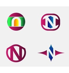 Letter N logo Alphabet logotype design vector