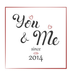 lettering greeting with anniversary celebration vector image