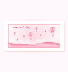 love and valentine day on sweet pink background vector image