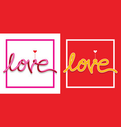 love symbols text happy valentine day vector image