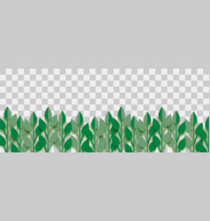 lush plant paper origami vector image