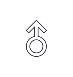 Man symbol thin line icon linear symbol vector