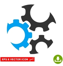 Mechanics Gears Eps Icon vector
