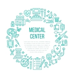 Medical poster template line icon vector