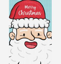 merry christmas santa claus funny cartoon card vector image
