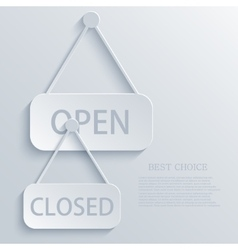 modern open closed light icon background vector image