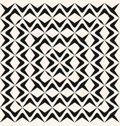 monochrome seamless pattern with concentric wavy vector image