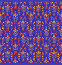 pattern with uzbek ornament vector image