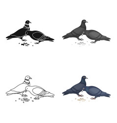 pigeonold age single icon in cartoon style vector image vector image