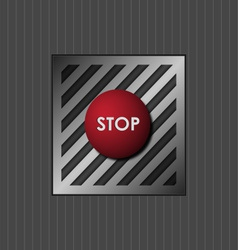 Red button with the word stop vector image