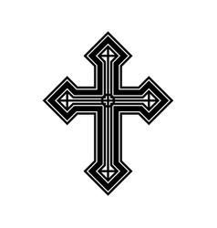 Religious symbol-cross vector