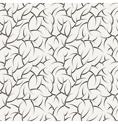 Seamless floral pattern of short branches vector image