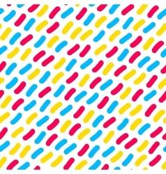 Seamless Multicolor Confetti Hand Drawn vector image