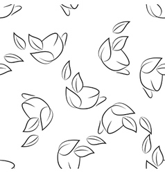 seamless of sketch cups vector image