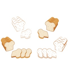 Set of bread vector