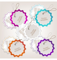 Set of bubbles stickers labels tags template vector image