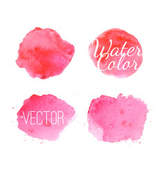 set of pink paint splashes backgrounds vector image