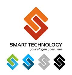 Smart tech logo work vector