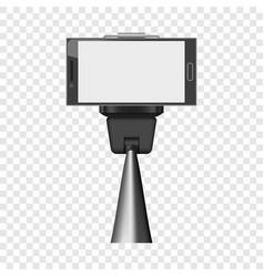 smartphone on selfie stick mockup realistic style vector image