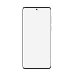 Smartphone realistic mockup front view with blank vector