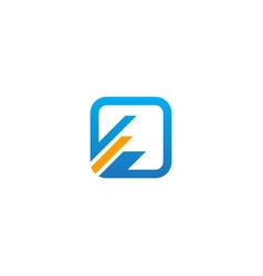 square line progress business logo vector image