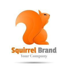 squirrel Colorful 3d Volume Logo Design Corporate vector image