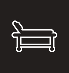 Stylish black and white icons medical stretcher vector