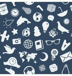 The pattern of various objects and symbols vector image