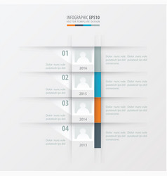 Timeline report design template yellow blue vector