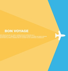 Travel background template poster layout vector image