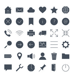 Ui solid web icons vector