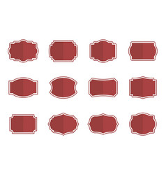 vintage blank label set in flat vector image