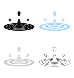 Water drop icon of for web and vector