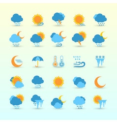 Weather Forecast And Meteorology Set vector image