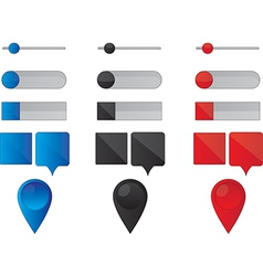 Web buttons and pointers vector