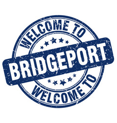 Welcome to bridgeport blue round vintage stamp vector