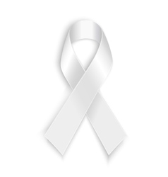 White awareness ribbon vector image