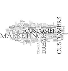 attract your dream customer text word cloud vector image