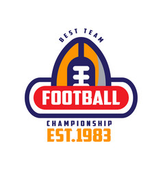 football championship best team est 1983 logo vector image vector image