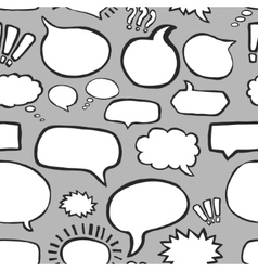 Hand Drawn Speech Bubbles Seamless Pattern vector image