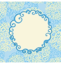 Seamless pattern with abstract doodle ornament and vector image vector image