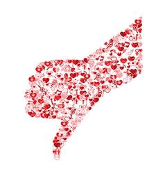 Template design thumb down symbol valentines vector