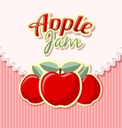 Retro apple jam vector image vector image