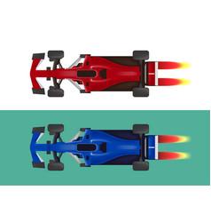set of racing cars formula 1 vector image
