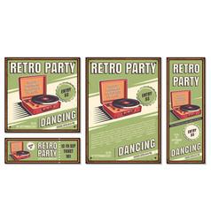vintage banner retro party vector image