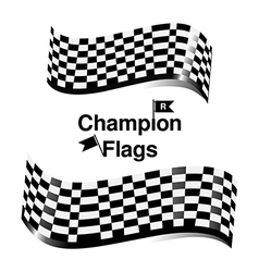 checkered flag racing vector image vector image
