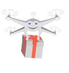 Drone delivers gifts Insulated vector image vector image