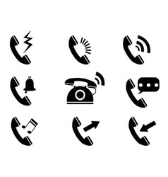 phone ring icons vector image vector image