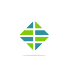 square shape business finance logo vector image