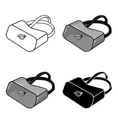 virtual reality glasses icon in cartoon style vector image vector image